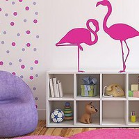 Wall Sticker Vinyl Decal Pink Flamingo Bird Amazing Long Legs Decor Image Unique Gift (n130)