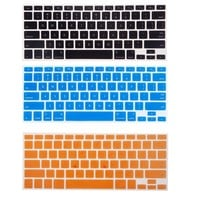 """Bundle of 15 Semi Transparent Colorful Keyboard Silicone Cover Skin Protector for Macbook 13"""" Unibody / Macbook Pro 13"""" 15"""" 17"""" / Macbook Pro 15 With Retina Display** / Mac Wireless Keyboard - With The Friendly Swede® Microfiber Cleaning Cloth and Retail P"""