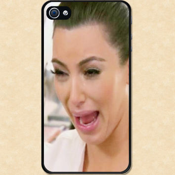 Iphone case Kim kardashian Crying Ugly Iphone 4 case cool awesome Iphone 4s case funny cry