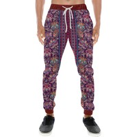 Embroidered Design 2 Men's All Over Print Casual Jogger Pants