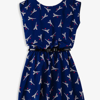 Eiffel Tower Chiffon Dress