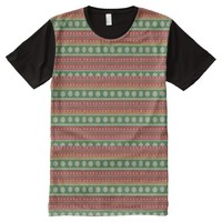 Multicolored Christmas Ugly Sweater All-Over Print T-shirt