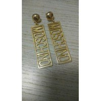 Moschino Gold plated earrings