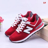 Alwayn New Balance Fashion New Mesh Women Men Sports Leisure Contrast Color Shoes 6#
