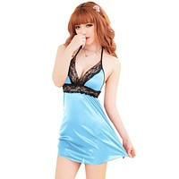 Sexy Ladies Halter Lingerie Teddy Outfit