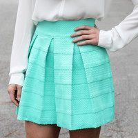 Simply Scalloped Skirt : Aqua