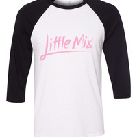 "Little Mix ""Little Mix Logo"" Baseball Tee"