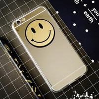 Smiley Face Makeup Mirror Case Cover for iPhone 7 7Plus & iPhone se 5s 6 6 Plus +Gift Box