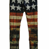 Distressed Flag Leggings