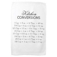 kitchen conversions measurements handy chart kitchen towel