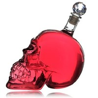 OrangeTag Crystal Head Vodka Skull Face Bone Glass Bottle Decanter Cup Home Bar 500ml