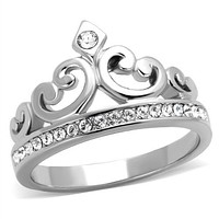 Mens Fashion Rings TK1821 Stainless Steel Ring with Top Grade Crystal