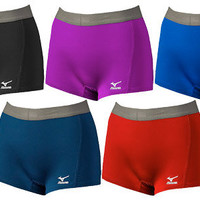 Mizuno's Flat Front Volleyball Spandex w/ Flip Waistband in 5 Colors
