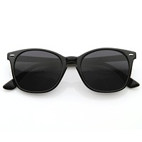 Vintage Dapper Inspired Horned Rim Key Hole Sunglasses 8542