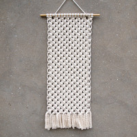 Bedroom wall decor Wall hanging tapestry Macrame wall hanging New home gift mother Knot home decor Of white wall art Simple fiber tapestry
