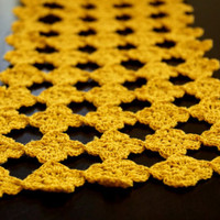 "Border Lace Crochet - Handmade - Wedding Decor- Crochet Supplies - 6"" Inches Width - Yellow Color -"