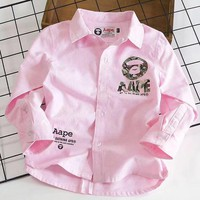 AAPE Girls Boys Children Baby Toddler Kids Child Fashion Casual Cardigan Jacket Coat