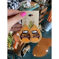 trick or treat truck earrings