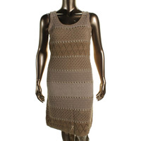 Lauren Ralph Lauren Womens Loose Knit Sleeveless Sweaterdress