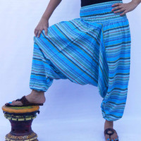 Cotton Stripe Pants / Yoga Pants / Indian Harem Pants / Gennie Pants / Gypsy Pants / Loose Baggy Pants / Boho Pants / Aladdin Pants*********