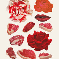 RED Art Print by Beth Hoeckel Collage & Design