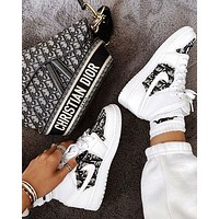 Nike Air Force 1 x DIOR Print Contrast Shoes Women Men Trending ShoesWhite