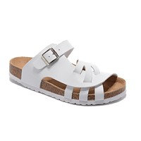 Birkenstock Pisa Sandals Couples Slippers - Patent White