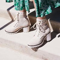 Free People Vegan Agency Lace-Up Boot