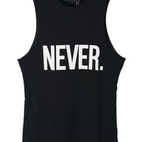 NEVER. Printed Tank Top