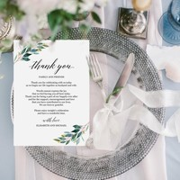 Greenery wedding thank you note template, Editable thank you card template, Customized thank you wedding card, Printable thank you letter