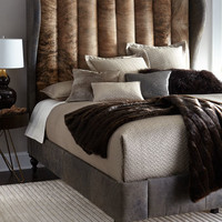 Jessie Channel-Tufted Hairhide Bed