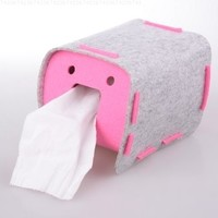 Fabric Cloth Tissue Box Cover Holder, Pink Color:Amazon:Home & Kitchen