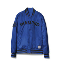 Diamond Supply Co Dugout Varsity Jacket in Blue