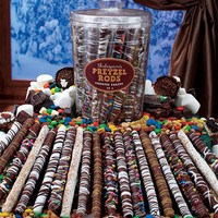 Gourmet Pretzel Tub Assorted Varieties Salty and Sweet Flavors Great Holiday Gift