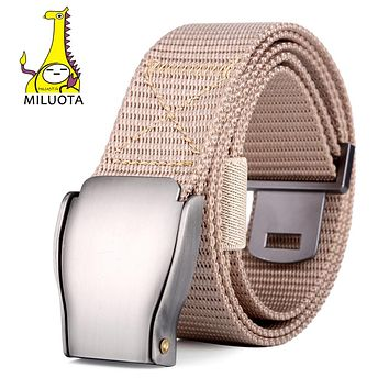 Military Belt Men's Canvas Belt with Automatic Buckle centurion Tactical Thicken Belts for Men