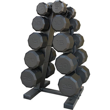 CAP Barbell 150lb Dumbbell Weight Set with Rack