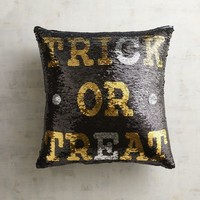 Trick or Treat & Boo Sequined Mermaid Pillow