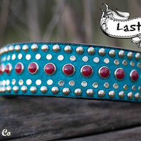 Turquoise Diva Leather Collar