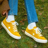 """""""Converse"""" Statr Fashion Canvas Flats Sneakers Sport Shoes Yellow"""