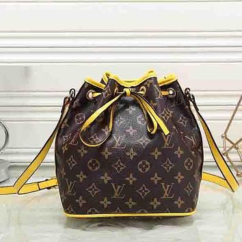 Perfect Louis Vuitton Women Leather Shoulder Bag Handbag Backpack