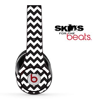 Black and White Chevron Pattern Skin for the Beats by Dre Solo, Studio, Wireless, Pro or Mixr