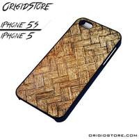 Woven Bamboo Wooden Case For Iphone 5/5S Case