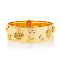 Symbols Wide Triptych Bangle | Moda Operandi
