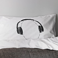 Headphones Head Case Pillowcase