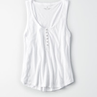 AE SOFT & SEXY DESTROY HENLEY TANK TOP, White