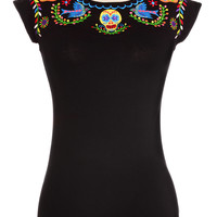 Day of the Dead Darling Sweetheart Top