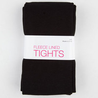 Fleece Lined Tights Black  In Sizes