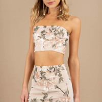 Back In Action Embroidered Crop Top
