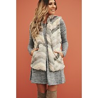 Pastel Party Faux Fur Vest (Multi)