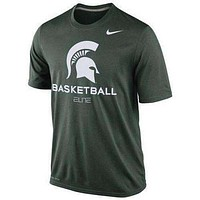 Michigan State Spartans Basketball Nike Practice t-shirt NWT Dri Fit Elite St